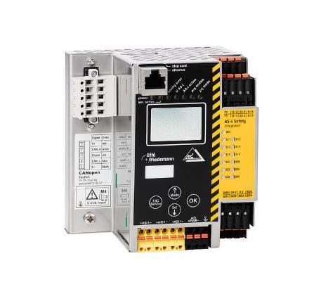 Cổng giao tiếp CANopen tích hợp bộ giám sát an toàn Bihl+Wiedemann BWU2804