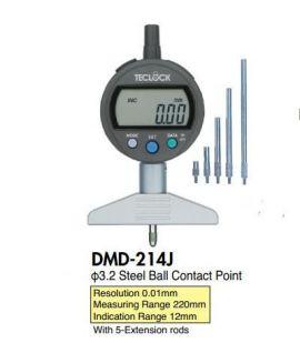 Depth gauge teclock DMD-213J, DMD-214J, DMD-215J, DMD-293J, DMD-2100J, DMD-2150J, teclock vietnam