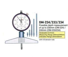 Dụng cụ đo chiều sâu teclock DM-233, DM-234, DM-273, DM-295, DMD-210J, DMD-211J, teclock vietnam