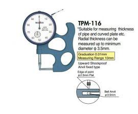Thickness gauge teclock TPM-116, TPD-617J, TPD-618J, SFM-627, SMD-540J,  SMD-540S2,  SMD-550J, teclock vietnam