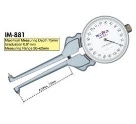 thước đo của teclock IM-881, IM-881B, IM-882, IM-882B, IM-1, IM-2, IM-4, teclock vietnam, tmp vietnam